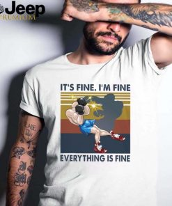 boxing its fine im fine everything is fine vintage shirt