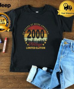 21 Year Old Gifts Vintage 2000 Limited Edition 21st Birthday T Shirt B09FS4ZZWV